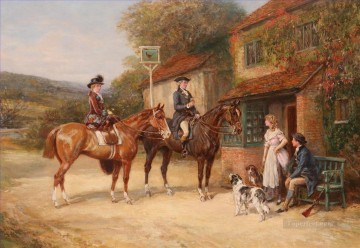 Classical Painting - hunters guest rural Heywood Hardy hunting