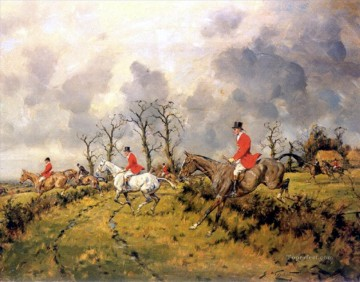 Hunting Painting - running hunters on horses