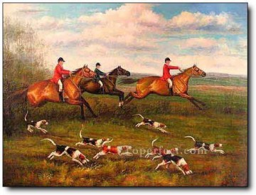 Gdr0009 classical hunting Oil Paintings