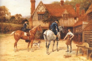 Gdr029 classical hunting Oil Paintings