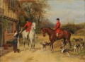 A Halt At The Inn Heywood Hardy hunting