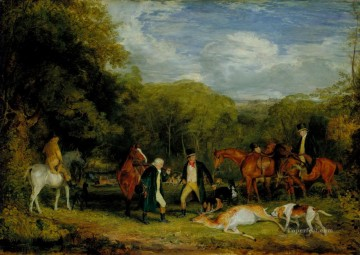Classical Painting - Buck Shooting in Windsor Great Park John Frederick Lewis hunting