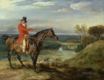 James Ward John Levett Hunting at Wychnor Staffordshire Oil Paintings