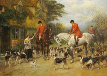 Classical Painting - The First of November Heywood Hardy hunting