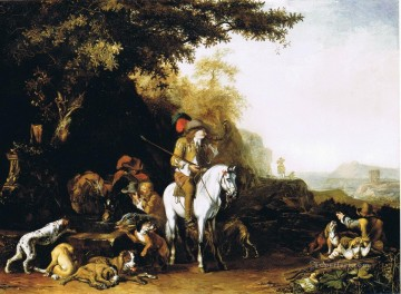 Hunting Painting - hunters at morning