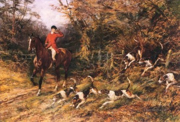 Hunting Painting - hunting dogs 24