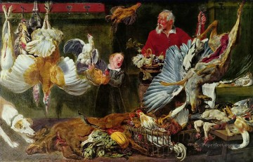 Hunting Painting - venison dealers cynegetic
