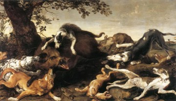 wild boar hunt Oil Paintings