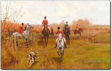 Gdr0004 classical hunting Oil Paintings