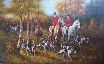 Gdr003 classical hunting Oil Paintings