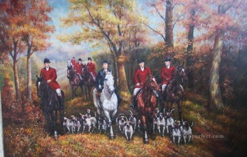 Gdr004 classical hunting Oil Paintings