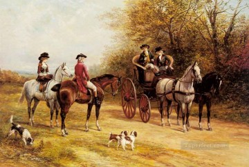 Gdr027 classical hunting Oil Paintings