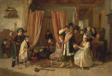 Hunting Painting - Charles Hunt Children acting the Play Scene from Hamlet Act II Scene