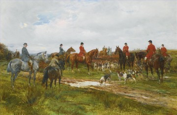 Classical Painting - GATHERING FOR THE HUNT 2 Heywood Hardy hunting