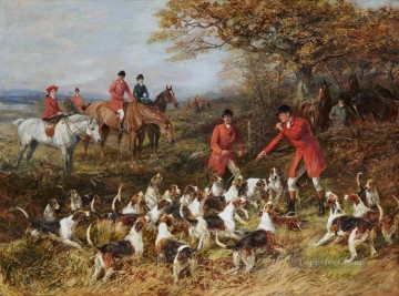 Classical Painting - Hunters and hounds Heywood Hardy hunting