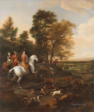 Hunting Painting - Jan Wyck Hare Hunting