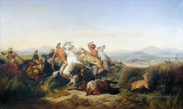Hunting Painting - Raden Saleh hunt
