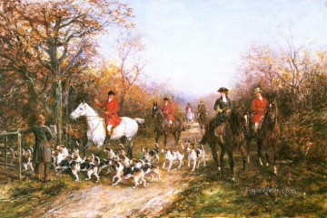 Hunting Painting - hardy The End of the Day cynegetic