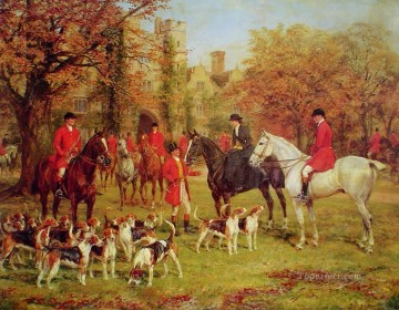 Hunting Painting - heywood hardy the meet cynegetic