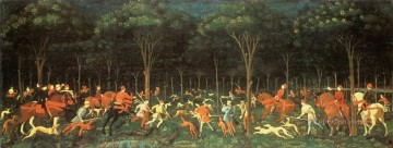 Hunting Painting - hunt in the forest by paolo uuccello c 1470