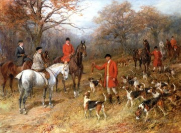Hunting Painting - hunters and dogs 25