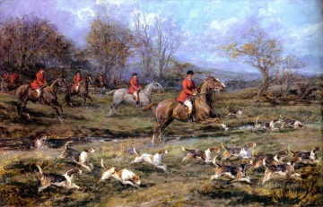 Hunting Painting - hunting dogs 23
