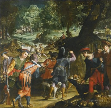 party of hunters Oil Paintings