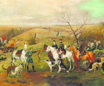 Hunting Painting - soldiers hunting fox