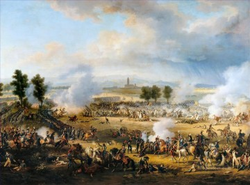 Bataille de Marengo by Louis Francois Baron Lejeune Military War Oil Paintings
