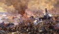 Battle for the Maloyaroslavets on october 12th 1812 Aleksandr Yurievich Averyanov Military War