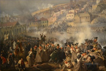 Battle of Smolensk Napoleon invasion of Russia Peter von Hess Military War Oil Paintings