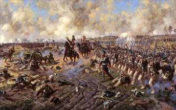 Military Wars Painting - Peter Bagration in the battle of Borodino Yurievich Averyanov Military War