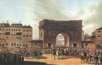 Russian army enters Paris in 1814 Military War Oil Paintings