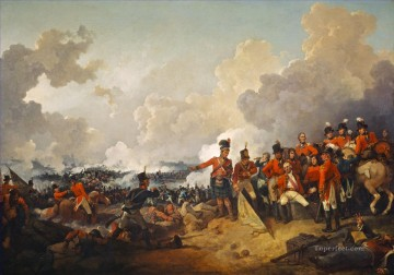 The Battle of Alexandria 21 March 1801 La bataille de Canope ou bataille Alexandrie by Philip James de Loutherbourg Military War Oil Paintings