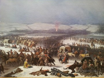 The Grande Armee Crossing the Berezina by January Suchodolski Military War.JPG Oil Paintings