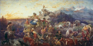 Westward the Course of Empire Takes Its Way military war Emanuel Leutze Oil Paintings