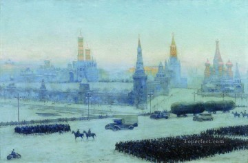 Classical Painting - moscow morning 1942 Konstantin Yuon Russian Patriotic Second World War
