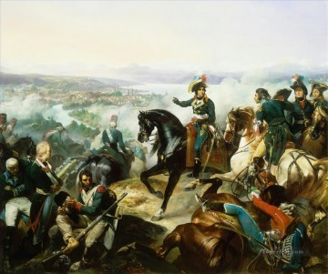 Classical Painting - Bataille de Zurich le 25 septembre 1799 The Battle of Zurich by Francois Bouchot Military War