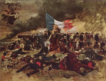 Artworks in 150 Subjects Painting - The Siege of Paris 1870 military Jean Louis Ernest Meissonier Ernest Meissonier Academic Military War