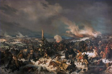 Classical Painting - Crossing the Berezina River Peter von Hess Military War