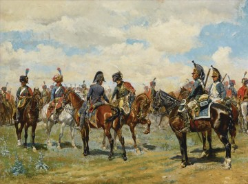 Classical Painting - LES DEUX AMIS Ernest Meissonier Academic Military War