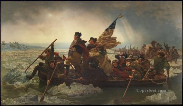 cross - Washington Crossing the Delaware American Revolution Emanuel Leutze Leutze military war