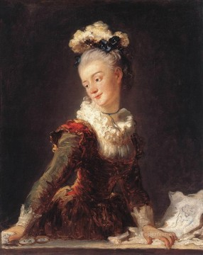 Made Oil Painting - Marie Madeleine Guimard Dancer Jean Honore Fragonard Rococo