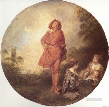 Rococo Painting - LOrgueilleux Jean Antoine Watteau classic Rococo