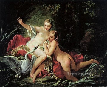 Leda and the Swan Francois Boucher classic Rococo Oil Paintings