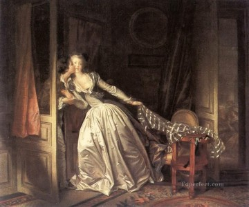 The Stolen Kiss Jean Honore Fragonard classic Rococo Oil Paintings