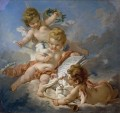 Cupids Allegory of Poetry Francois Boucher classic Rococo