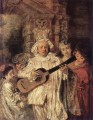 Gilles and his Family Jean Antoine Watteau classic Rococo