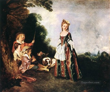 The Dance Jean Antoine Watteau classic Rococo Oil Paintings
