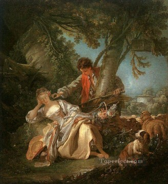 sleep Painting - The Interrupted Sleep Francois Boucher classic Rococo